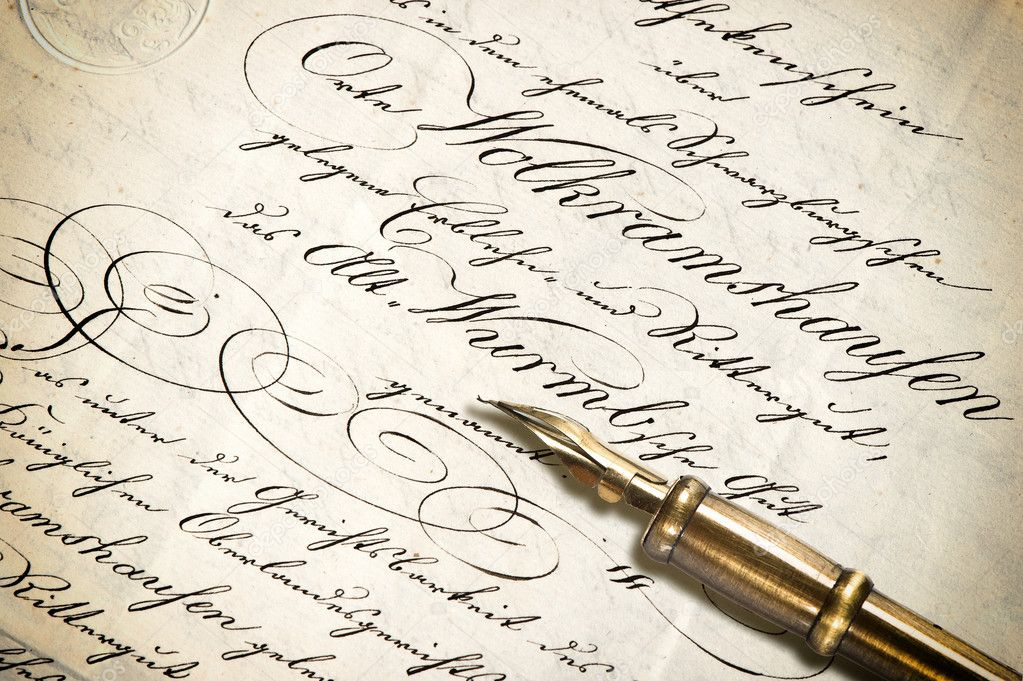 depositphotos 46082131 stock photo old letter with calligraphic handwritten
